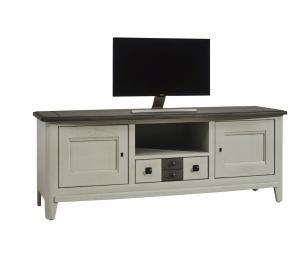 S Meuble TV 2 portes, 1 tiroir, 1 niche L160 H60 P46 cm