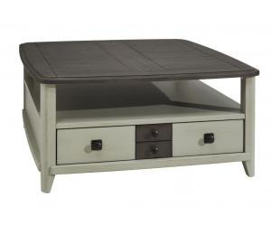 S Table basse carrée 2 tiroirs L90 H43 P90cm