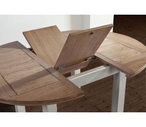 R Table ronde diamètre 125 / détails 1 allonge portefeuille de 40cm