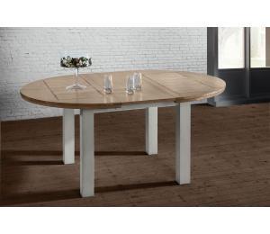 R Table ronde diamètre 125 avec 1 allonge portefeuille de 40cm