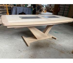 Table H 220 X 110cm + 4 allonges de 40cm