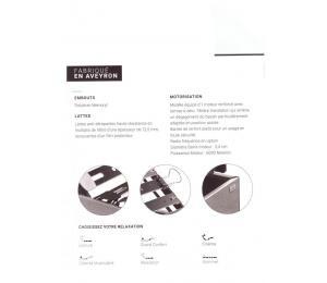 Sommier relevable MONO LATTES Hauteur version bois 20cm ou hauteur version tissu ou simili 18cm