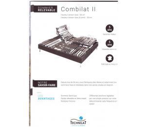 Sommier relevable COMBILAT II hauteur version bois 20cm ou hauteur version tissu ou simili 18cm