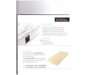 Matelas fixe ORPHEE hauteur 22cm confort ferme, contact moëlleux existe en versions médium ou ferme