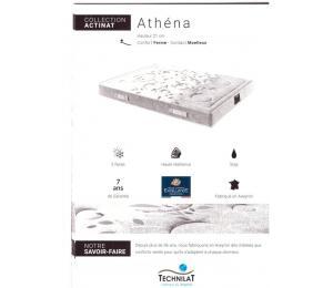 Matelas fixe ATHENA hauteur 21cm, confort ferme, contact moëlleux