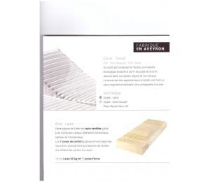 Matelas relevable CALYPSO hauteur 23cm confort ferme, contact moëlleux. Existe aussi en versions relevables Mono ou Bi