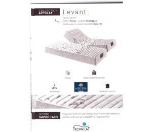 Matelas relevable LEVANT hauteur 26cm confort ferme, contact enveloppant. Existe aussi en versions relevables Mono ou Bi