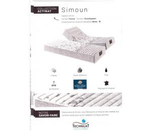 Matelas relevable SIMOUN hauteur 23cm confort ferme, contact enveloppant. Existe aussi en versions relevables Mono ou BI
